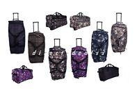 """Large 27"""" Wheeled Travel Luggage Amazon Floral Holdall Case Folding Travel Bag"""