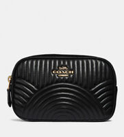 Coach Belt Bag With Deco Quilting 39685 Black Leather