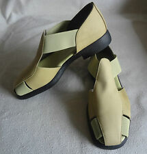 Aerosoles Leather 4 Give Fisherman Sandal Two-Tone Light Green Rubber Sole Sz5.5