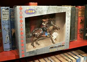 PAPO Prestige SAMOURAI ACTION FIGURE on HORSEBACK with BOW boxed 397401