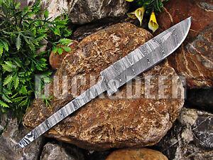 """9"""" long handmade damascus steel blank blade hunting knife Full Tang Knife.YR8"""