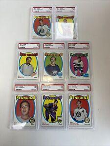 1971-72 Topps Hockey Lot Of 7 PSA 7 Rare Graded 1971 No Orr