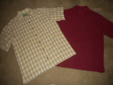 LOT OF 2 TOMMY BAHAMA MENS 100% SILK CAMP SHIRTS SIZE S  - FREE SHIPPING   A-36