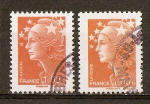 2008 Marianne de Beaujard 1,00 orange YT4235 (2 types) voir description