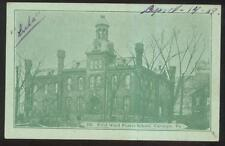 Postcard CARNEGIE Pennsylvania/PA  1st First Ward Public School Campus Bldg 1907