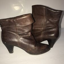 Frye Boots Ankle Booties Brown Roll Down or Up Size 6.5