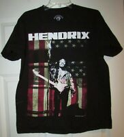 Jimi Hendrix Licensed Guitar Tee Shirt Black Adult Large