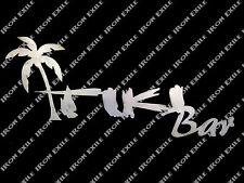 Tiki Bar Mancave Pub Pool Room Metal Art Sign Beach Hawaii Tropical Decor