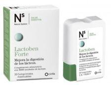 Ns Lactoben Forte 9000 U FCC de Lactasa.Intolerancia a La Lactosa.30 Comprimidos