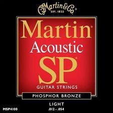Martin SP Guitarra Acústica Cuerdas De Bronce Fosforoso MSP4100 Ligeras 12 - 54