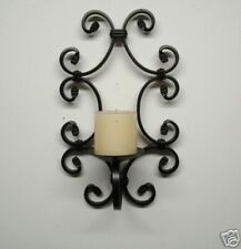 Rustic Iron Scrolled candle holder