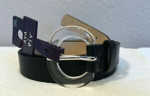Women's Belt Round Translucent Buckle - Ava & Viv™ Black 3XL