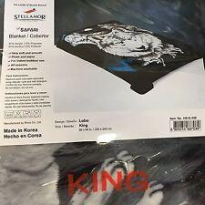 Wonu Hi-Safari Stellamor Original Acrylic King Size Korean Wolf Blanket
