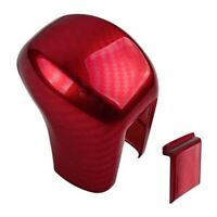 Gear Shifting Knob Cover ABS Red Carbon Fiber Change Lever Trim for  Civic  Y6Y3