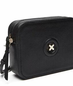 MIMCO Daydream Hand Bag Black  Hip Handbag Cross Body Leather BNWT RRP$199 GOLD