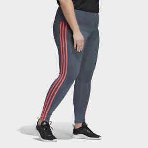 Adidas Women's Plus Size Legacy Blue Signal Reflective Sport CROP Leggings NWT