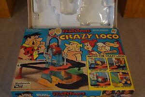 Flintstones Fred & Barney & Pebbles Toy Train FW Woolworth