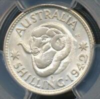 Australia, 1942(s) One Shilling, 1/-, George VI (Silver) - PCGS MS64 (Ch-Unc)