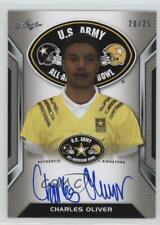 2016 Leaf US Army All-American Bowl Tour Silver /25 Charles Oliver #ATA-CO1 Auto