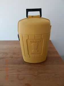 Coleman Lantern Clam Shell Yellow Carry Case Vintage