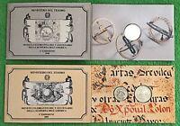 89 & 90 Repubblica Italiana Lire 200 +Lire 2-500 Colombo Scoperta dell' (2) FDC