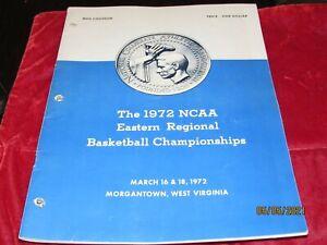 Vintage 1972 West Virginia Eastern Regional Basketball Championships program