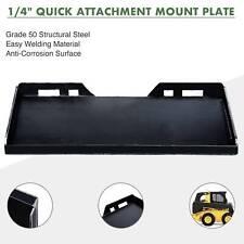 "1/4"" Quick Attachment Mount Plate for Kubota Bobcat Skidsteer Trailer Adapter"