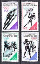 DDR 1988 Mi. Nr. 3140-3143 Postfrisch ** MNH