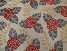 Laura Ashley Woven Jacquard Miya Fabric Cranberry New -  2.75 Meter Length