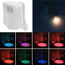 8 Color Motion Sensor Automatic Seats LED Light WC Toilet Bowl Bathroom Lamp
