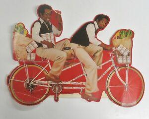 Lou Rawls Budweiser Beer Bicycle Cardboard  Ad Vintage 17 X 12.5