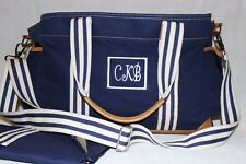 Pottery Barn Navy Polyester Leather Classsic Diaper Bag NWOT Free Ship MSRP $149