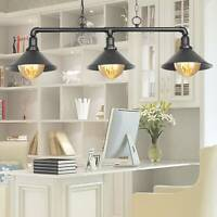 3 Way Industrial Retro Pendant Light Shade Suspended Ceiling Lights Style Lamp