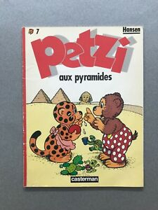 PETZI  Aux Pyramides n°7  HANSEN 1986 Casterman