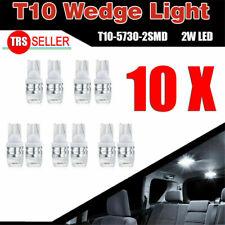 10PCS/Set White High Power T10 Wedge SAMSUNG LED Light Bulbs W5W 192 168 194 12V