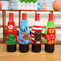Christmas Xmas Knitted Jumper Beer Wine Spirit Bottle Cooler Gift Fun Party S