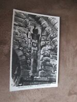 Real photographic postcard - Coffin in the wall - St Johns church Chester