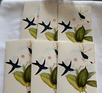 V&A Victoria &Albert Museum Bird Flowers Leaves Blank Card Lot Of 6