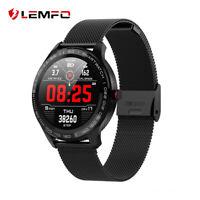LEMFO L9 Montre Intelligente waterproof ECG PPG fréquence cardiaque monitor Noir