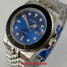 40mm bliger black dial ceramic bezel NH35A Automatic mens Watch jubilee bracelet