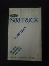 1988 Ford Light Duty Truck Specification Book