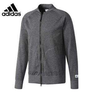 adidas Athletics X Reigning Champ Seamless Bomber Jacket Heather Gray Mens XL