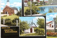21770 AK Gruss aus Swistal-Buschhoven Köln Kirche Teich Rasenflächen um 1980
