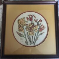 Signed Print Flowers Limited Edition Jackie Atzet Artist Framed Home Decor Art