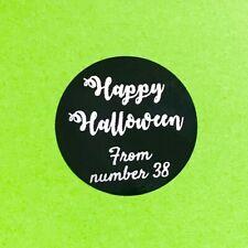 Personalised Black Vinyl Halloween Stickers