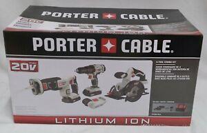 Porter Cable 4-Tool Combo Kit PCCK616L4 New