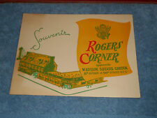 ROGERS CORNER New York Souvenir Photo Folder 1940's NYC Restaurant and Bar MSG