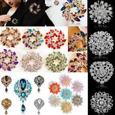 Women Beautiful Rhinestone Crystal Flower Wedding Bridal Bouquet Brooch Pin Gift