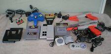 Assorted Nintendo SNES NES N64 Accessories ~ Controllers Zapper Gun Game Genie +