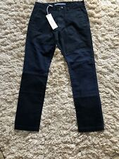 Mastercraft Union Chinos Twill Navy W32 L30 Mr Porter Patches Flat Fronted